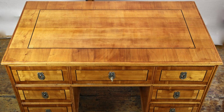 Ebonized Cherry Wood Writing Desk with Kneehole Late 18th Century, Austria, circa 1790 For Sale