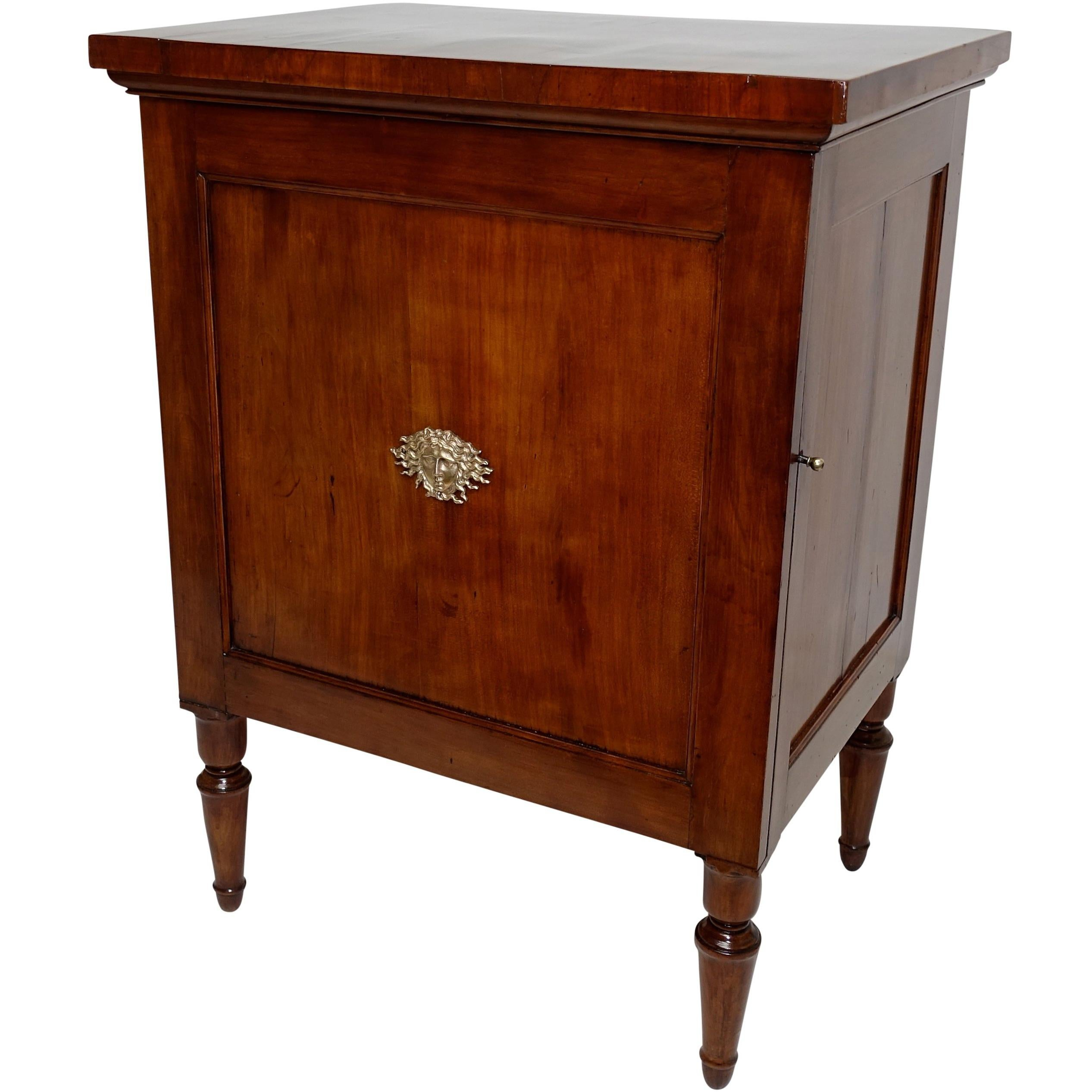 Cherrywood Bedside Cabinet, French, Late 18th-Early 19th Century