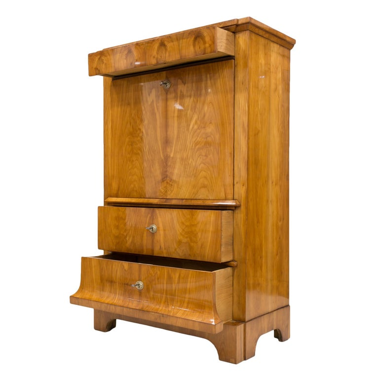 Cherrywood Secrétaire, Germany, 19th Century For Sale 1