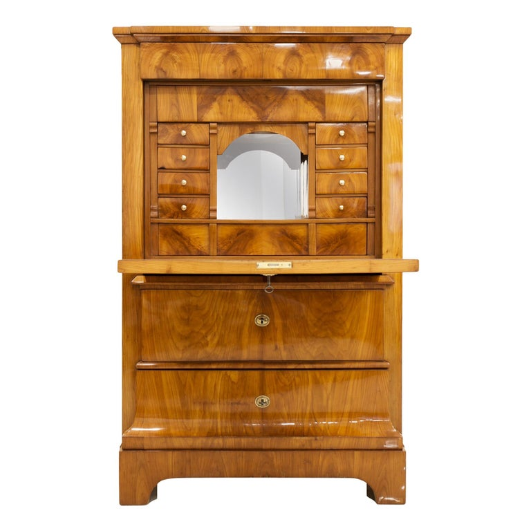 Cherrywood Secrétaire, Germany, 19th Century For Sale