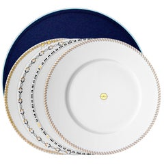 Chers Parisiens, Box of 4 Limoges Porcelain Dinner Plates