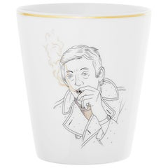 Beakers Collection Chers Parisiens Porcelain from Limoges, Serge Gainsbourg