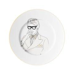 """Dessert Porcelain gold plate, Parisian style """"Scissors"""""""