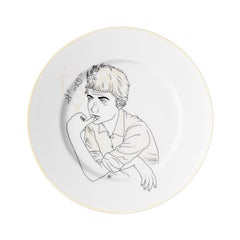 Dessert Plate Collection Chers Parisiens Porcelain from Limoges Françoise Sagan