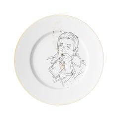 """Dessert Porcelain gold plate, Parisian style """"Piano"""""""