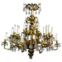Cherub Gilt Bronze Chandelier
