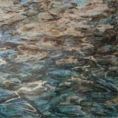 """Woodland Water Flood 1"", Cheryl Clinton, acrylic, contemporary, landscape"