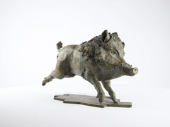 Wild Boar, Bronze Animal Sculpture