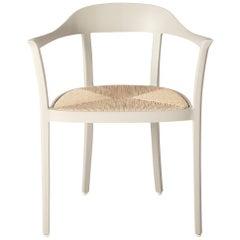 Chesapeake Dining Chair; Woven Rush Seat; Aluminum Outdoor Garden Furniture