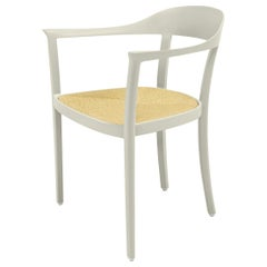 Chesapeake Dining Chair, Pale Grey, Neutral, Woven Rush Seat, Outdoor Garden