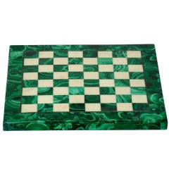 Chess Board in Malachite and Marble