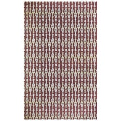 'Chess' Contemporary, Traditional Wallpaper in Burgundy