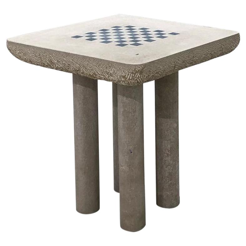 Chess Table, French Limestone, Hand-Sculpted, Rooms