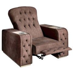 Chest Brown Home Theater Seat by Pino Vismara