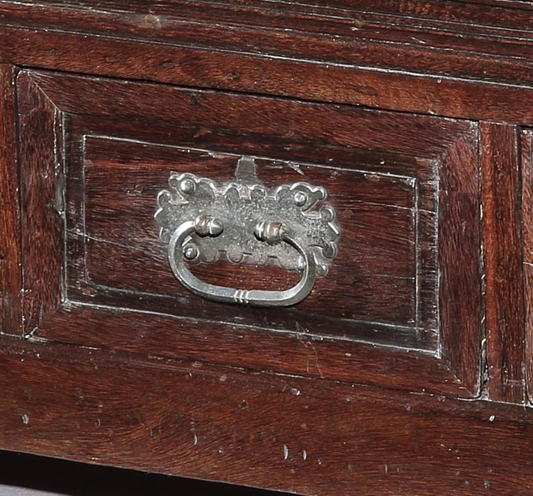 Joinery Chest, Cassone, 17th Century, Portuguese, Baroque, Brazil, Hardwood For Sale