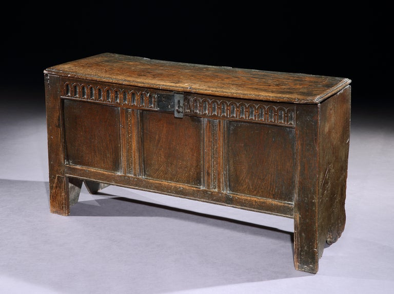A mid-17th century transitional oak chest, from the collection of John Butler Yeats & the Yeats family by descent  This charming chest has an exceptional provenance coming by descent from the collection of John Butler Yeats the artists who is best