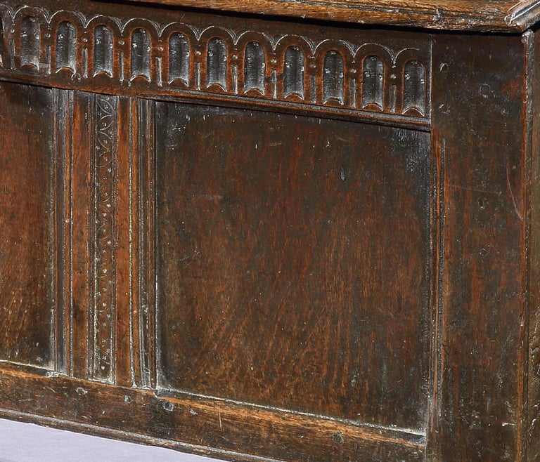 Charles II Chest, Coffer, 17 Century, English, Oak, John Butler Yeats, William Butler Yeats For Sale