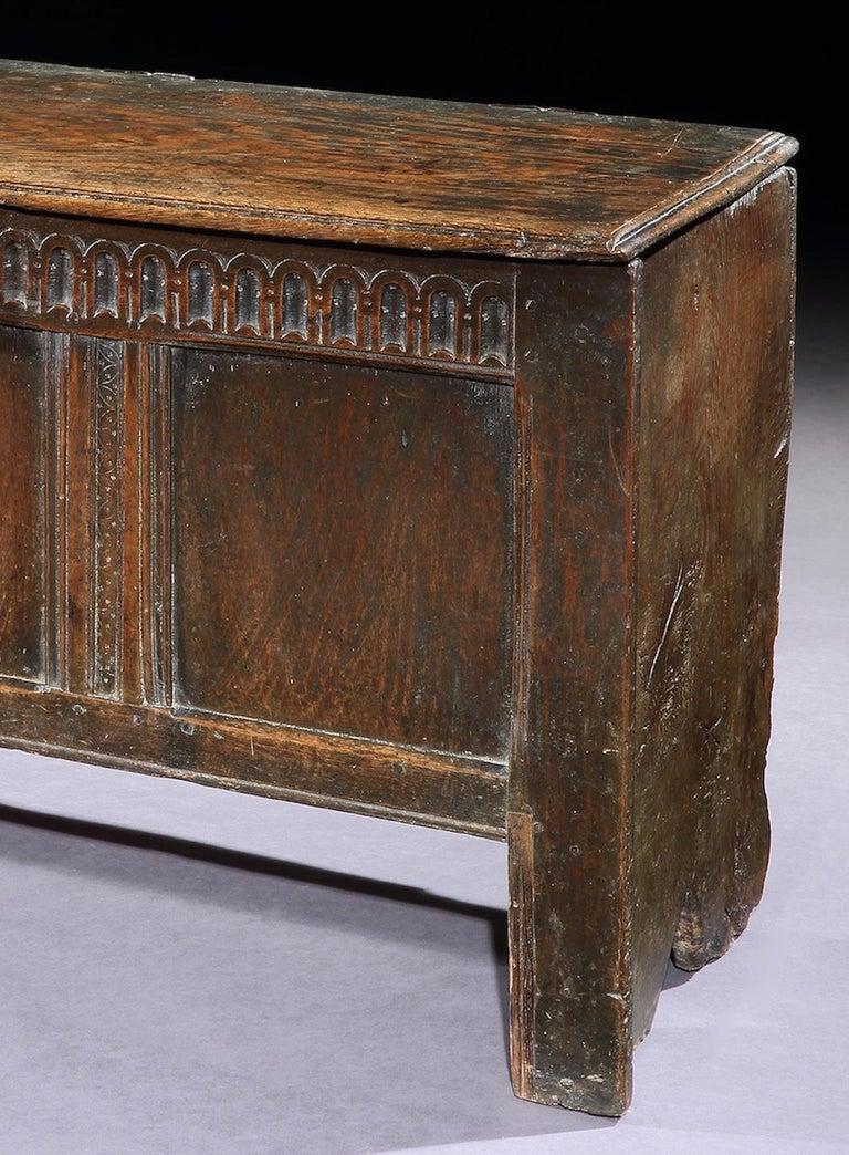 British Chest, Coffer, 17 Century, English, Oak, John Butler Yeats, William Butler Yeats For Sale