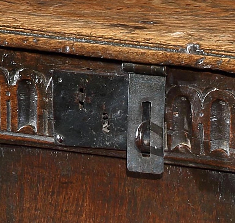 Carved Chest, Coffer, 17 Century, English, Oak, John Butler Yeats, William Butler Yeats For Sale