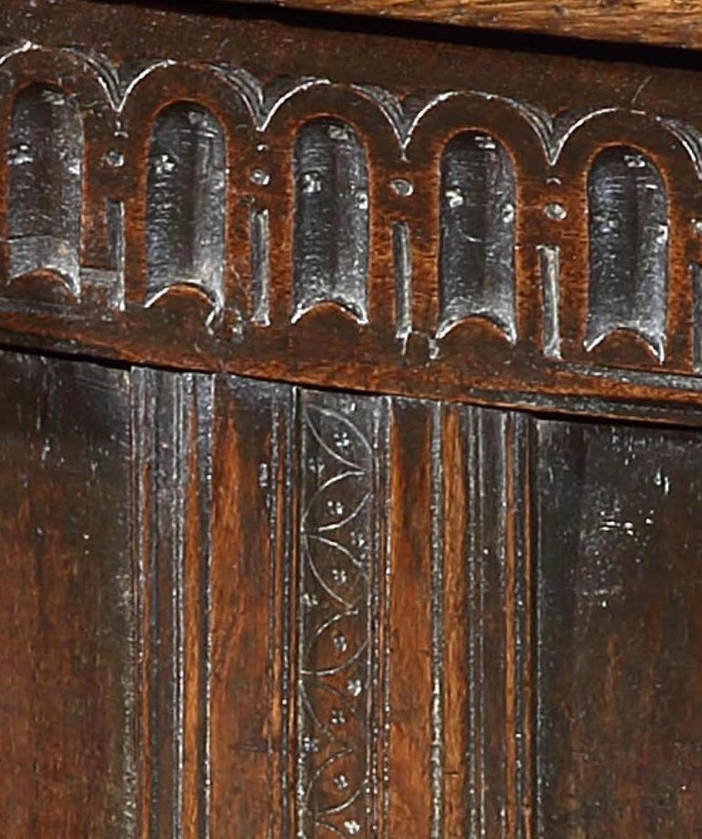 Chest, Coffer, 17 Century, English, Oak, John Butler Yeats, William Butler Yeats In Good Condition For Sale In Eversholt, Bedfordshire