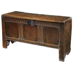 Chest, Coffer, 17 Century, English, Oak, John Butler Yeats, William Butler Yeats