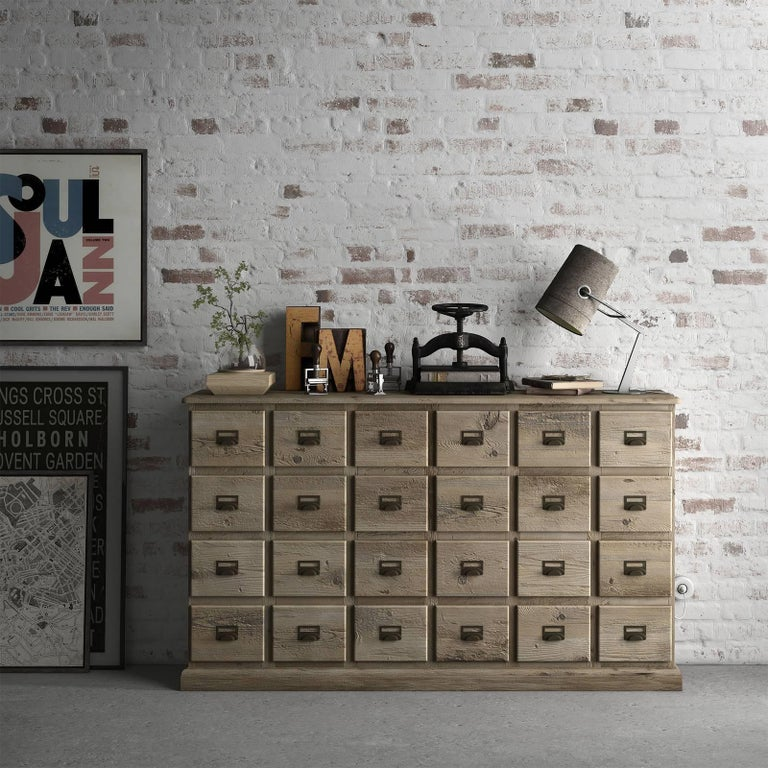 Inspired by old-fashioned cabinets used in apothecaries to store spices and other ingredients, this elegant chest of drawers is a unique addition to both Classic and modern interiors and can be used in a bedroom or any living space as striking