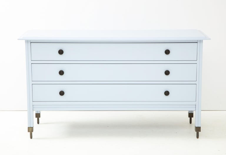 Mid-Century Modern Blue Chest of Drawers by Carlo de Carli, Sormani Edition, Italy, circa 1963 For Sale