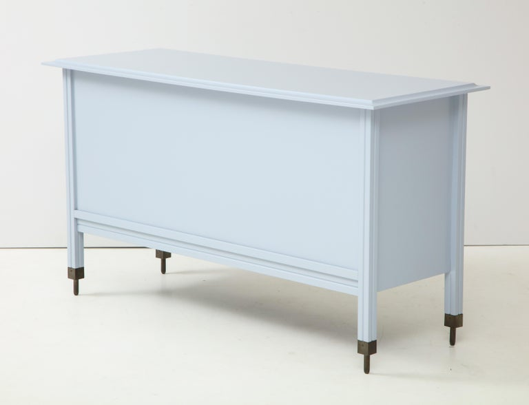 Italian Blue Chest of Drawers by Carlo de Carli, Sormani Edition, Italy, circa 1963 For Sale
