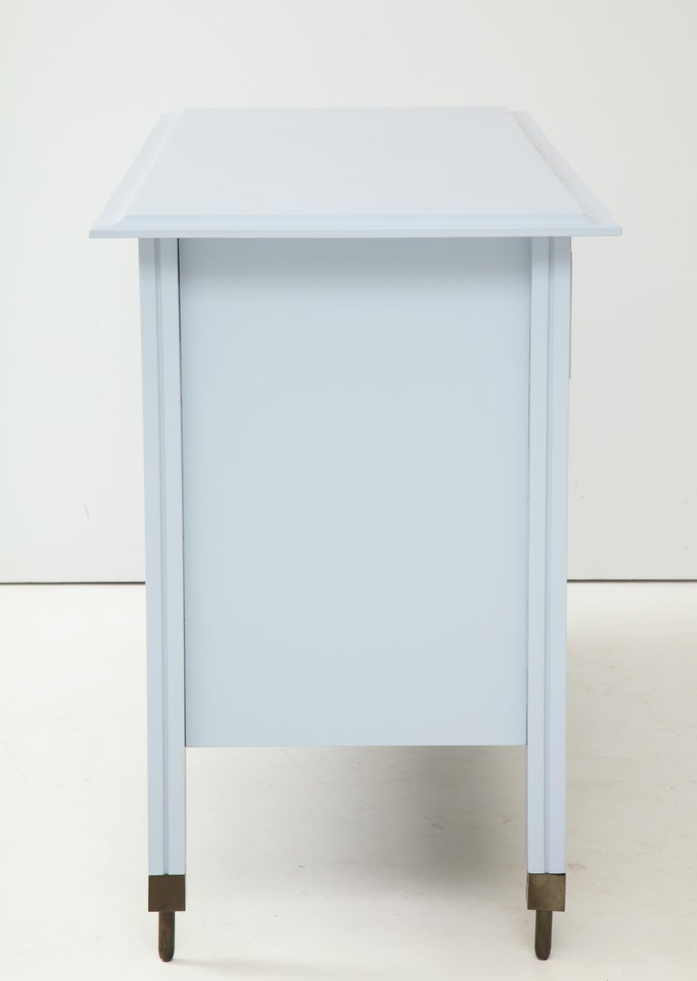 Lacquered Blue Chest of Drawers by Carlo de Carli, Sormani Edition, Italy, circa 1963 For Sale