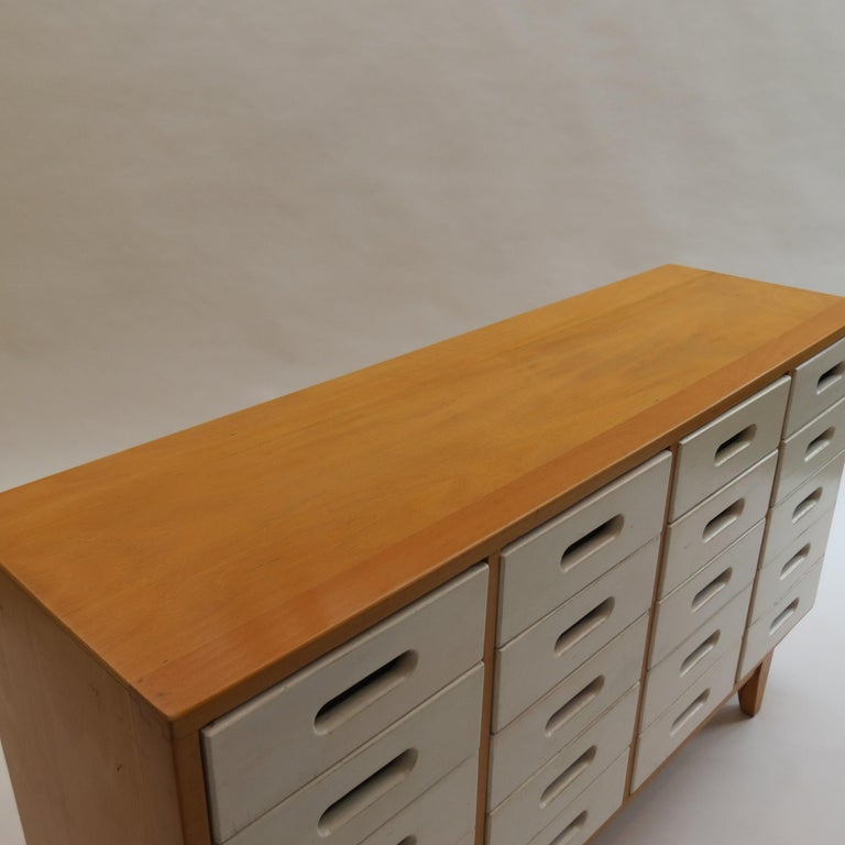 Mid-Century Modern Chest of Drawers by James Leonard for Esavian ESA White 1 For Sale