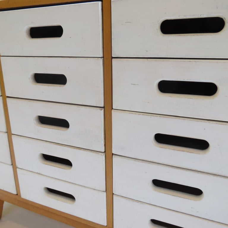 Wood Chest of Drawers by James Leonard for Esavian ESA White 1 For Sale