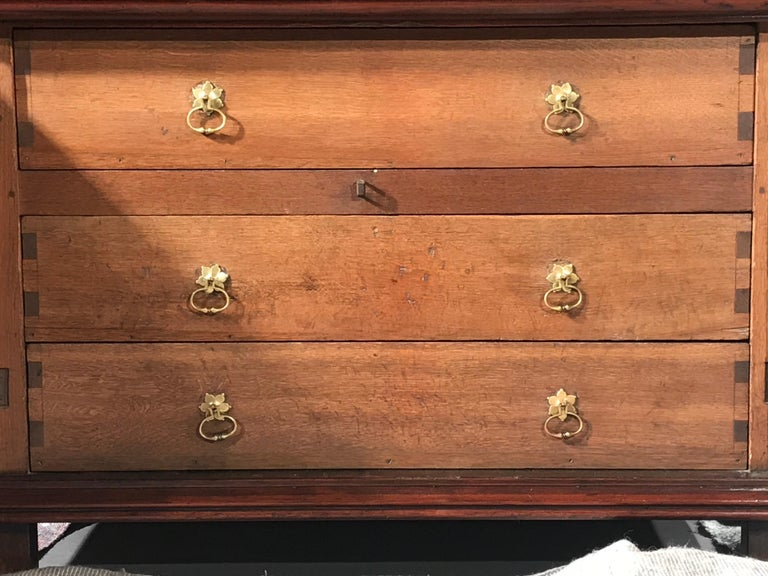 Chest of Drawers Chest Commode Architectural Facade Enclosed Renaissance Cedar For Sale 4