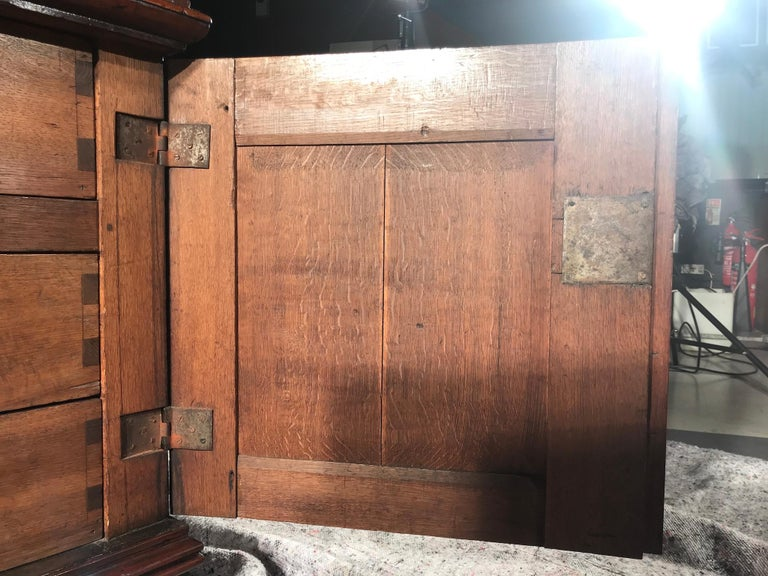 Chest of Drawers Chest Commode Architectural Facade Enclosed Renaissance Cedar For Sale 5