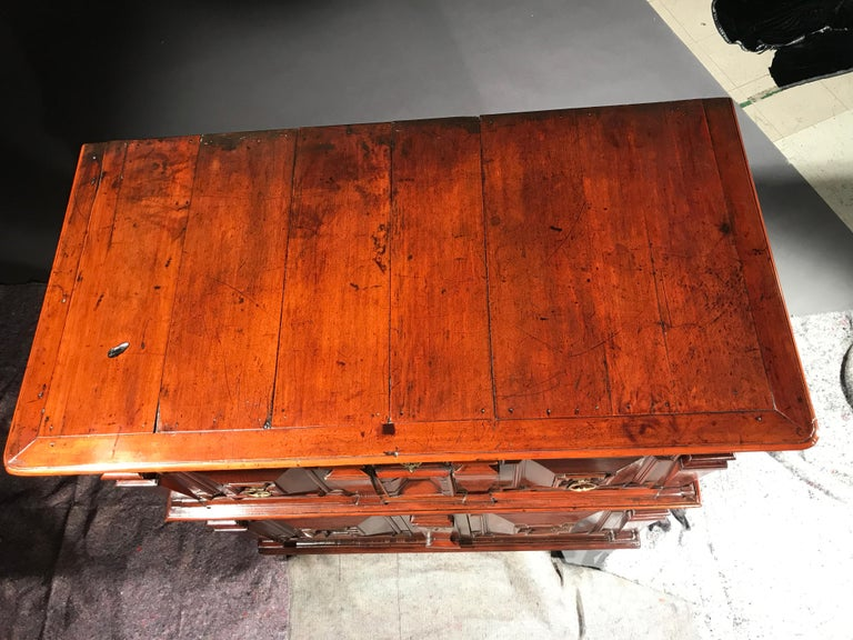 Chest of Drawers Chest Commode Architectural Facade Enclosed Renaissance Cedar For Sale 7