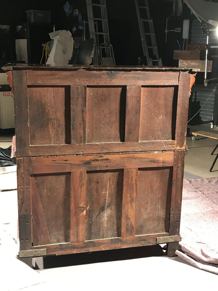 Chest of Drawers Chest Commode Architectural Facade Enclosed Renaissance Cedar For Sale 9