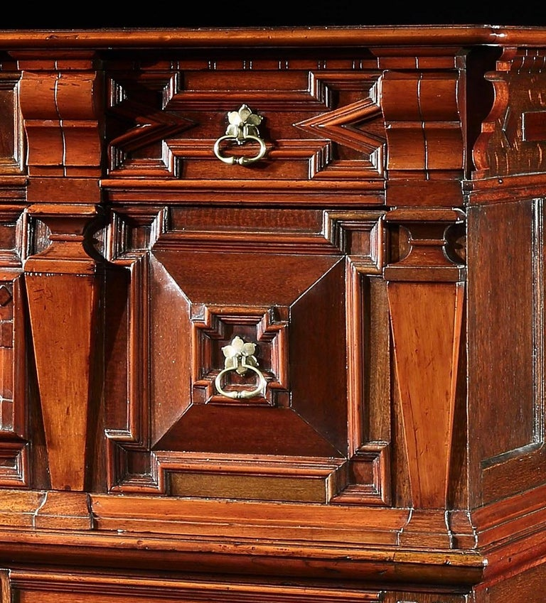 European Chest of Drawers Chest Commode Architectural Facade Enclosed Renaissance Cedar For Sale