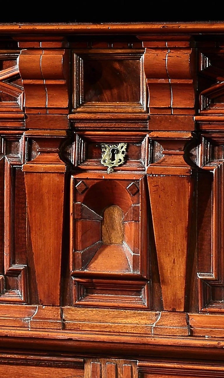 Joinery Chest of Drawers Chest Commode Architectural Facade Enclosed Renaissance Cedar For Sale