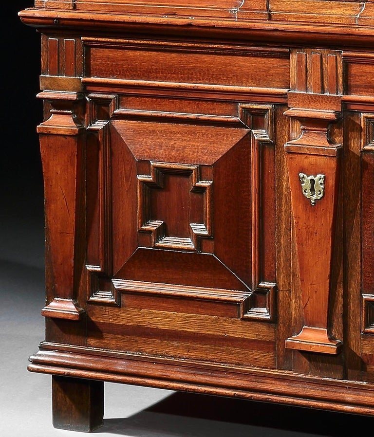 17th Century Chest of Drawers Chest Commode Architectural Facade Enclosed Renaissance Cedar For Sale