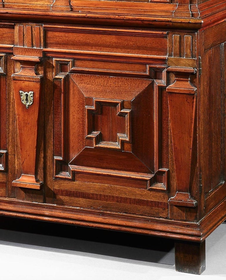 Chest of Drawers Chest Commode Architectural Facade Enclosed Renaissance Cedar For Sale 1