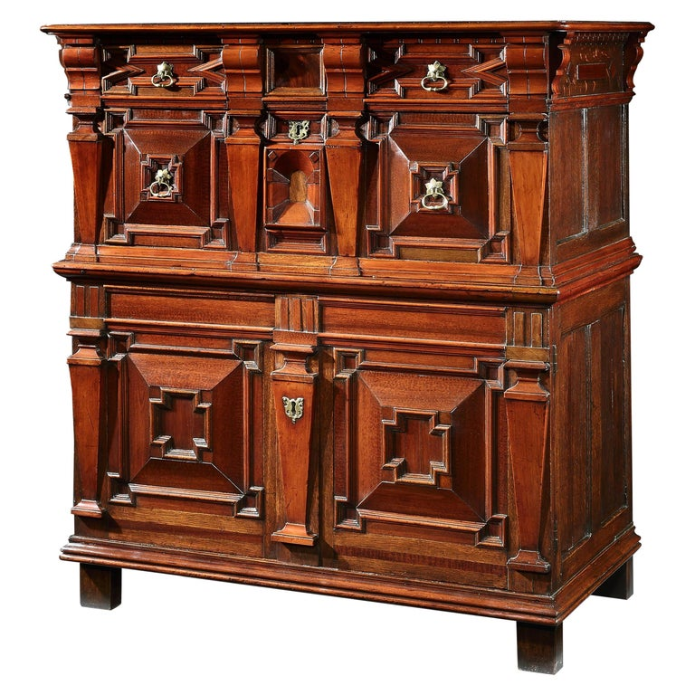 Chest of Drawers Chest Commode Architectural Facade Enclosed Renaissance Cedar For Sale