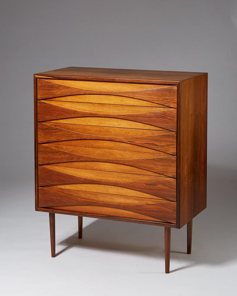 Scandinavian Modern Chest of Drawers Designed by Arne Vodder, Denmark, 1960s For Sale
