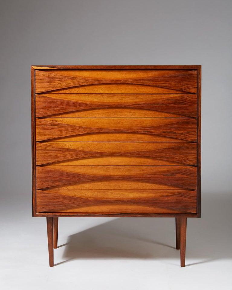 Swedish Chest of Drawers Designed by Arne Vodder, Denmark, 1960s For Sale