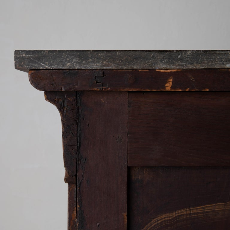 Chest of Drawers French Mahogany Stone Top, 19th Century, France For Sale 5