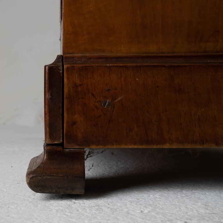 Chest of Drawers French Mahogany Stone Top, 19th Century, France For Sale 3