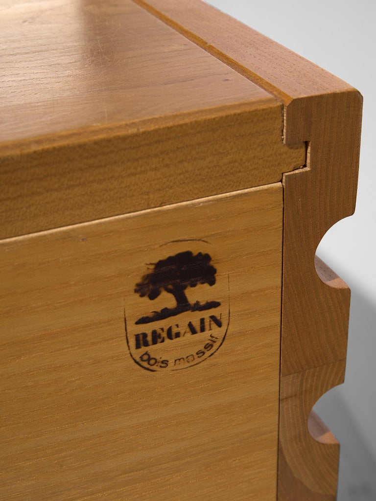 Chest of Drawers in Elm by Maison Regain For Sale 4