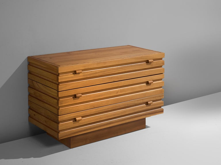 French Chest of Drawers in Elm by Maison Regain For Sale
