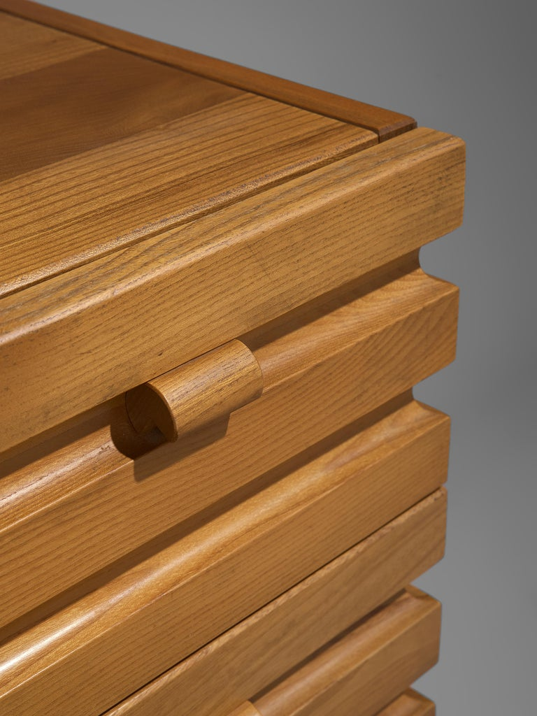 Chest of Drawers in Elm by Maison Regain For Sale 2