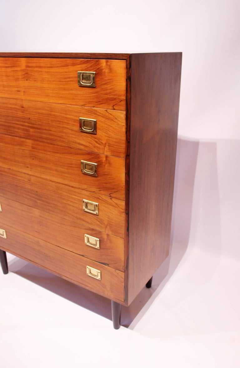 Scandinavian Modern Chest of Drawers in Rosewood by Reoval, Danish Design, 1960s For Sale
