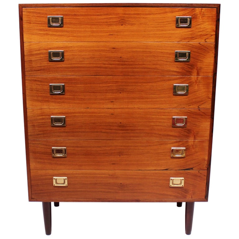 Chest of Drawers in Rosewood by Reoval, Danish Design, 1960s For Sale