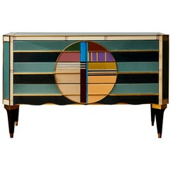 Chest of Drawers in Tainted Mirror, by Studio Glustin